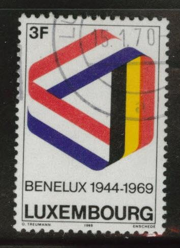 Luxembourg Scott 480 Used 1969 Mobius stamp