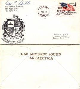 1960 US NAVY + CACHET + SIGNED, 1960, Polar