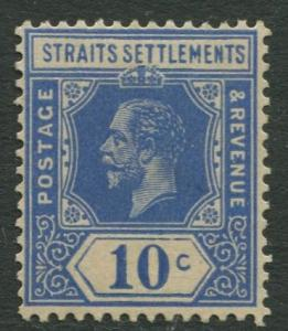 Straits Settlements - Scott 159 - KGV Definitive - 1919 - MNG - 10c Stamp