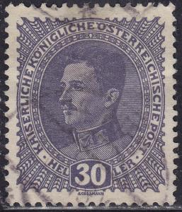 Austria 171 USED 1917 Emperor Karl
