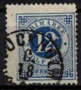 Sweden - SG21- 12ö ring type perf 14. CV 1£ (approx 1.16 EUR