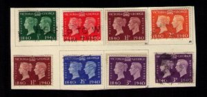 Great Britain Sg 479-Sg 484 Used & MNH QV & KGVI Sc 252-Sc 267 F-VF See Notes