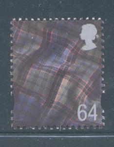 Great Britain Scotland Sc 17 1999 64p Tartan stamp mint NH