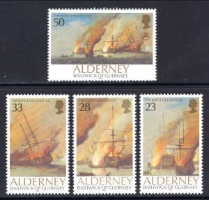 Alderney 65-68 Sailing Ships MNH VF