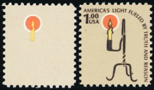 1610a, XF NH $1 Candle With Brown Color Omitted ERROR * Stuart Katz
