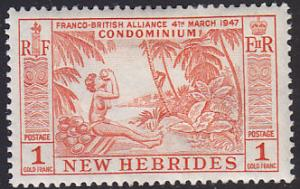 New Hebrides Br 90 Woman Drinking From A Coconut 1957