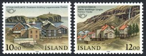 Iceland 624-625, MNH. Nordic Cooperation.Stykkisholmur, Seydisfjordur, 1986