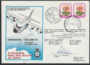 NEW ZEALAND ROSS DEPENDENCY 1979 signed flight cover to McMurdo Sound.......H714