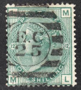 Great Britain Scott 64 plate 12  Fine used with a neat SON cancel.
