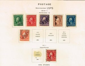 US STAMP 20TH USED STAMPS ON ALBUM PAGE COLLECTION LOT #2