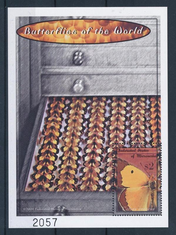 [34839] Micronesia 2000 Butterflies Schmetterlingen Papillons  MNH Sheet