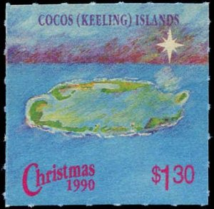 Cocos Islands #222-224, Complete Set(3), 1990, Never Hinged