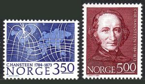 Norway 839-840, MNH. C.Hansteen, astronomer; Magnetic meridians, 1984