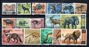 Kenya 1966-71 Animals fine used set #20-35 WS16004