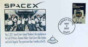 AFDCS SPACEX Dragon Capsule Resilience Return 5-2-2021 Crew After Splashdown