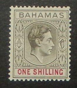 Bahamas 110. 1938 1/- Black and bright red KGVI
