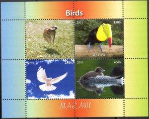 Malawi 2011 Birds (4) MNH Cinderella !