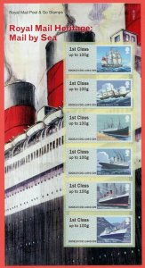 2018  - MAIL BY SEA  POST & GO PRESENTATION PACK - P&G 29 - UNMOUNTED MINT
