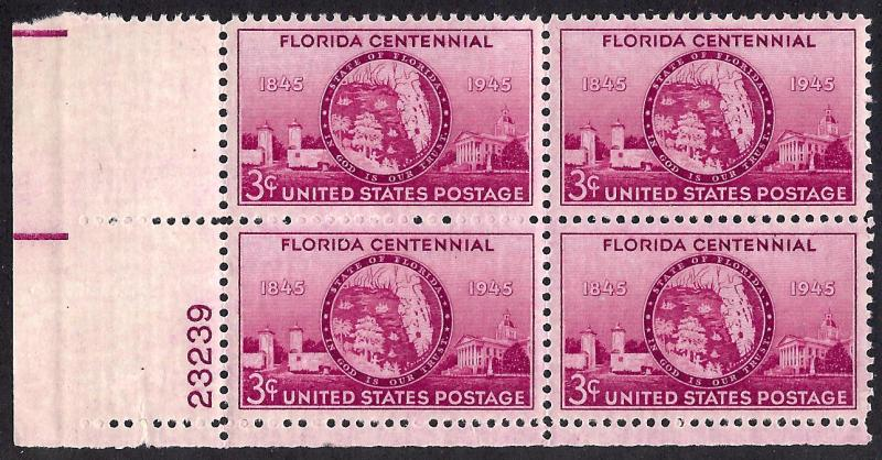927 Mint,OG,NH... Plate Block of 4