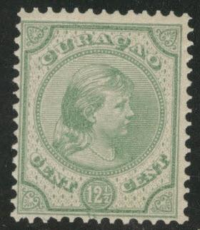 Netherlands Antilles Curacao  Scott 20 MNH** 1892 12.5 cent