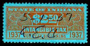 U.S. INDIANA ST. REVS D39  Used (ID # 27876)