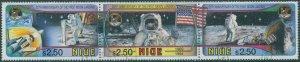 Niue 1994 SG780a First Moon Landing 25th strip FU