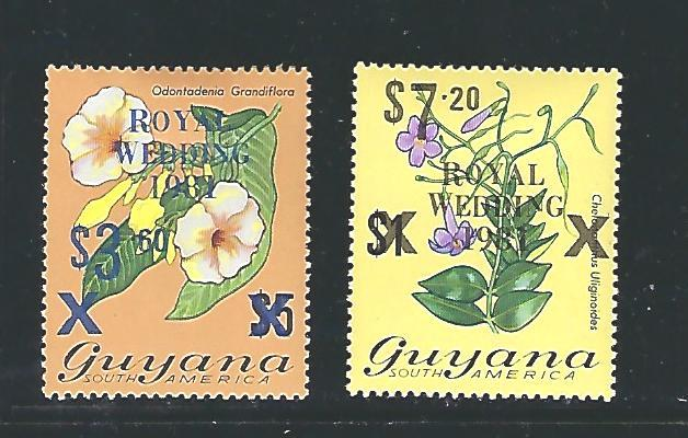 Guyana Scott #334 & 335a, Unused, never hinged