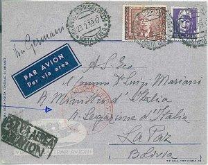 ITALIA REGNO - serie IMPERIALE su BUSTA - destinazione: BOLIVIA 1939