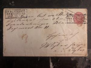 1865 Magdeburg Prussia Germany Cover