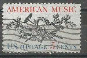 UNITED STATES, 1964, used 5c American Music Scott 1252
