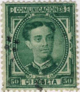 ESPAGNE / ESPAÑA - 1876 Ed.179/Mi.161 50c green Usado