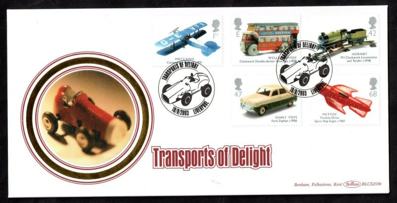 GB 2003 Transports of Delight Benham Limited  Edition FDC WS17168(L)