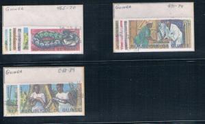 Guinea 465-70;471-74;C88-89 Used set Biology Institute (G0240)