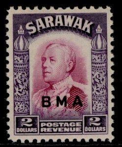 SARAWAK GVI SG141, $2 bright purple & violet, M MINT. Cat £16.