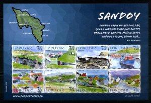 Faroe Islands - 2006 -Sandoy Island sheet MNH # 477