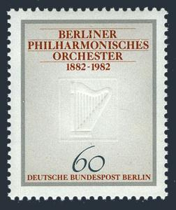 Germany-Berlin 9N472,MNH.Mi 666. Berlin Philarmonic,centenary,1982.