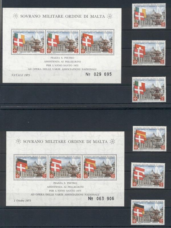 Architecture Flags Sovereign Order of Malta MNH stamps set