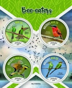 Z08 MLD190303a MALDIVES 2019 Bee-eaters MNH ** Postfrisch