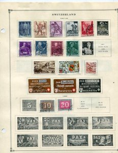 Scott Intl Stamp Album Pages (50 + 100 st) Switzerland  Good condition sp1216