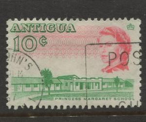 Antigua #174 Used 1966 Single 10c Stamp