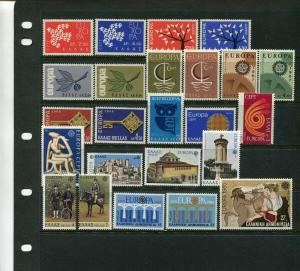 Greece   EUROPA ISSUES SETS - Great Group (Mint NEVER HINGED)
