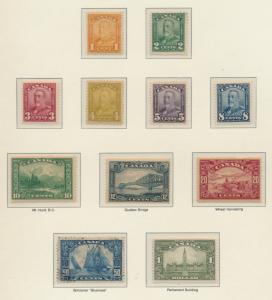 Canada Stamp Set Scott #149-59, Mint Hinged Except 50 Cent Is Used - Free U.S...