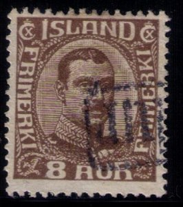 Iceland Scott #114 Used8 AUR DARK BROWN F-VF
