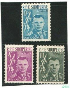 1962  ALBANIA  -  SG: 688/690  - MANNED SPACE FLIGHT - GARGARIN - UNMOUNTED MINT
