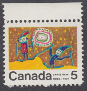 Canada - #522  5c Christmas, Children Skiing - MNH