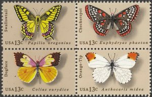 Stamp US Sc 1712-5 Block 1977 Butterfly Nature MNH