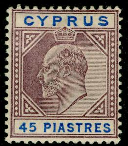 CYPRUS SG59, 45pi dull purple & ultramarine, M MINT. Cat £200.