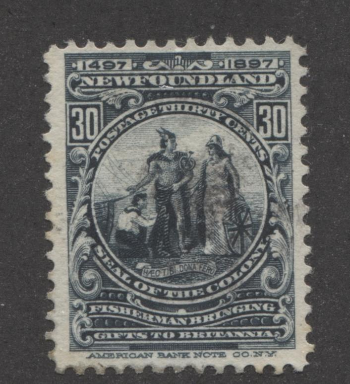 Newfoundland #72 30c Slate 1897 John Cabot Issue VF-75 Used