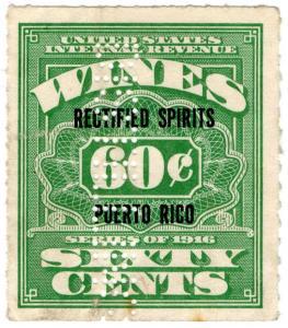 (I.B) Puerto Rico Revenue : Rectified Spirits 60c (Distilling perfin)