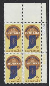 1308  5c - INDIANA STATEHOOD -PB# 28365 28326 UR - MNH CV*: $2.75 - LOT 1313